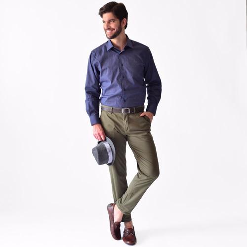 camisa hombre tallas extras casual puntos rack & pack