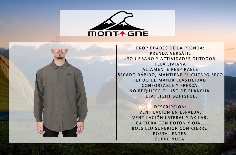 11744685dd Camisa Hombre Terranova M l Montagne S rapido Trekking -   3.436