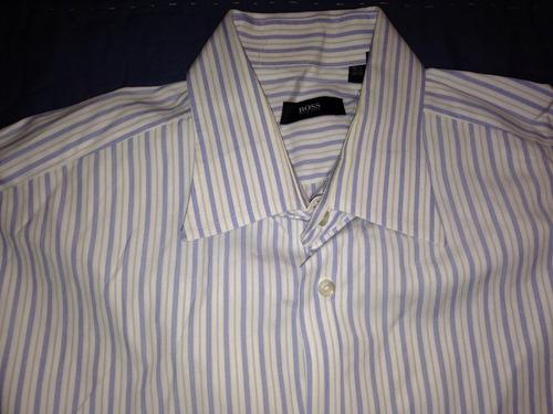 camisa hugo boss 16 1/2 34-35-grande