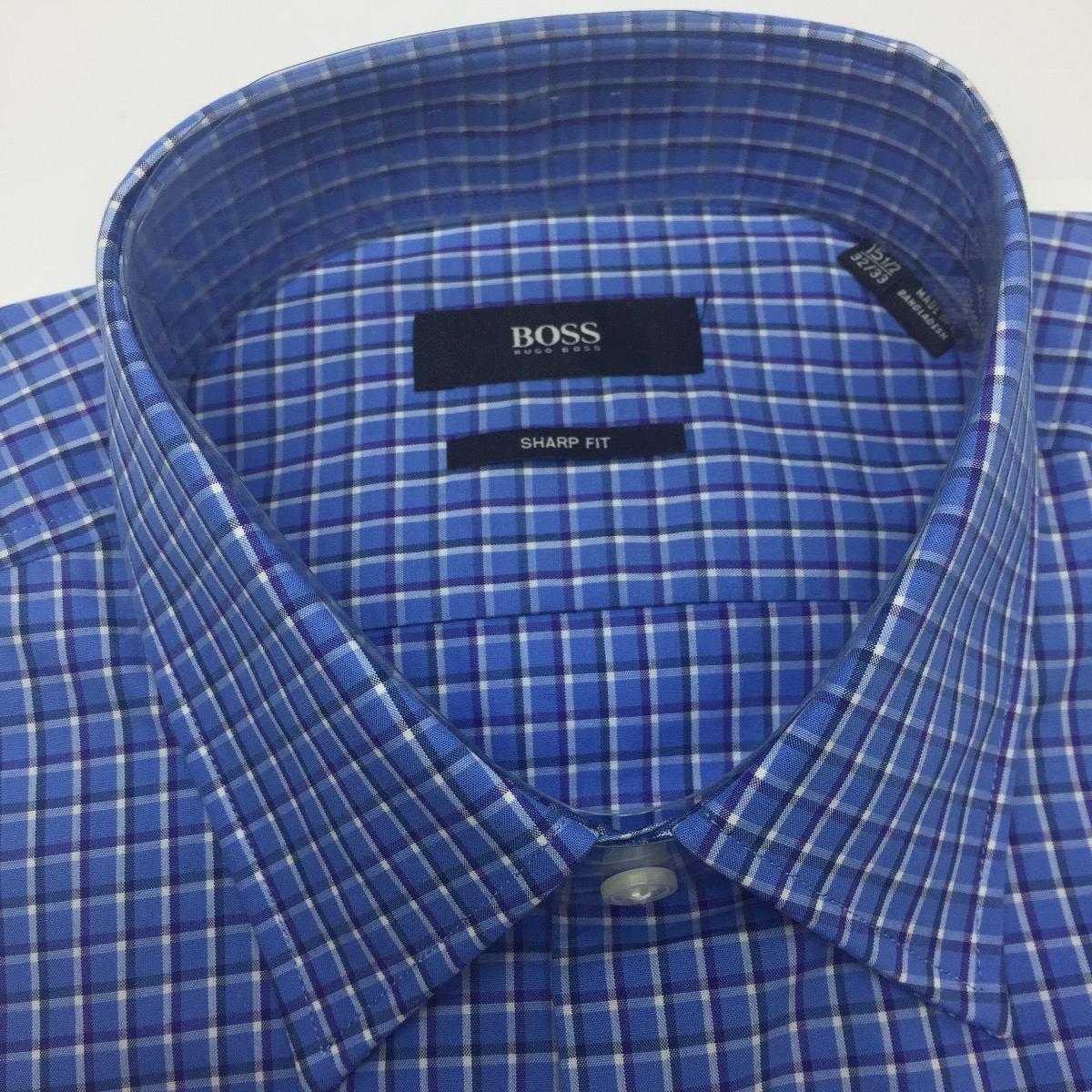 6284abfc5446e Camisa Hugo Boss Hombre 100% Original Cuadros -   289.900 en Mercado ...