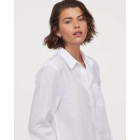 Camisa Hym Blanca. Manga Larga. 1 Bolsillo Externo. Botones