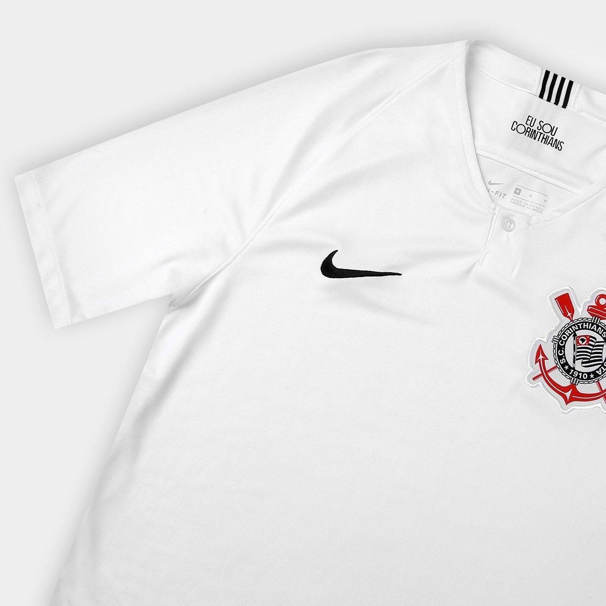 3cb97d66eb camisa i branca oficial nike corinthians 2018 torcedor timão. Carregando  zoom.
