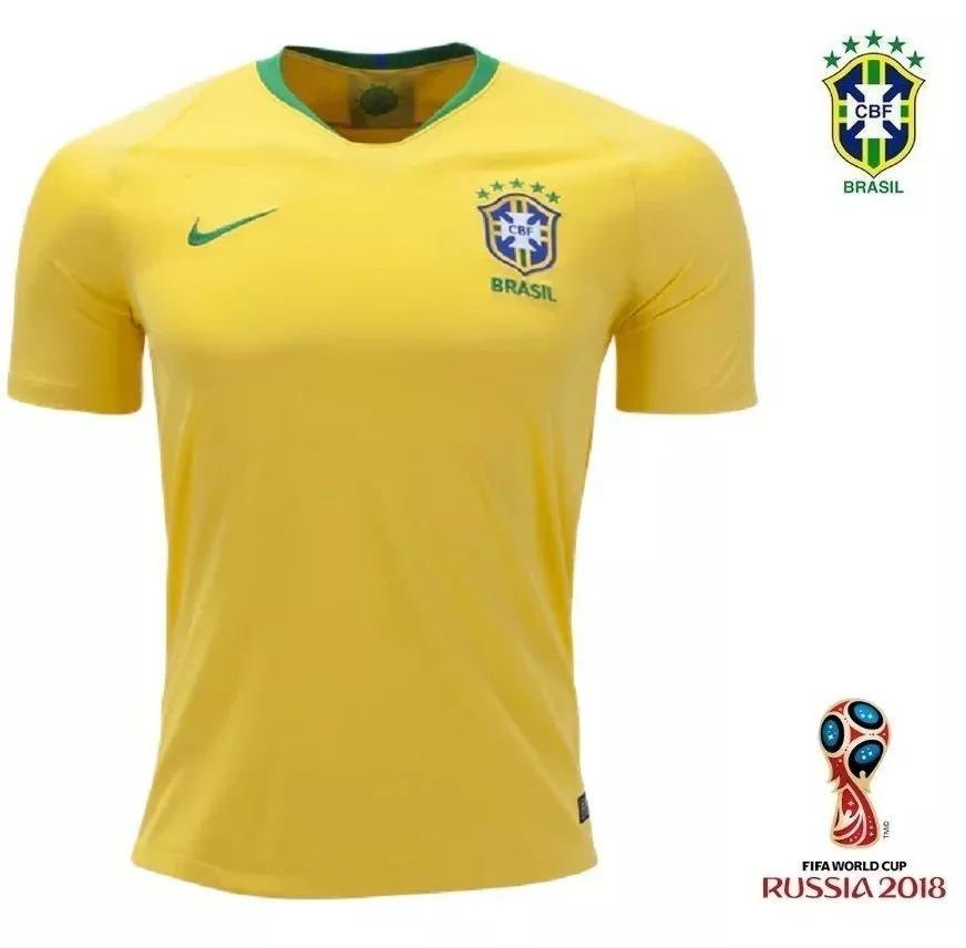 camisa i seleção brasileira brasil mundial copa do mundo 18. Carregando  zoom. d63ceaa7de812