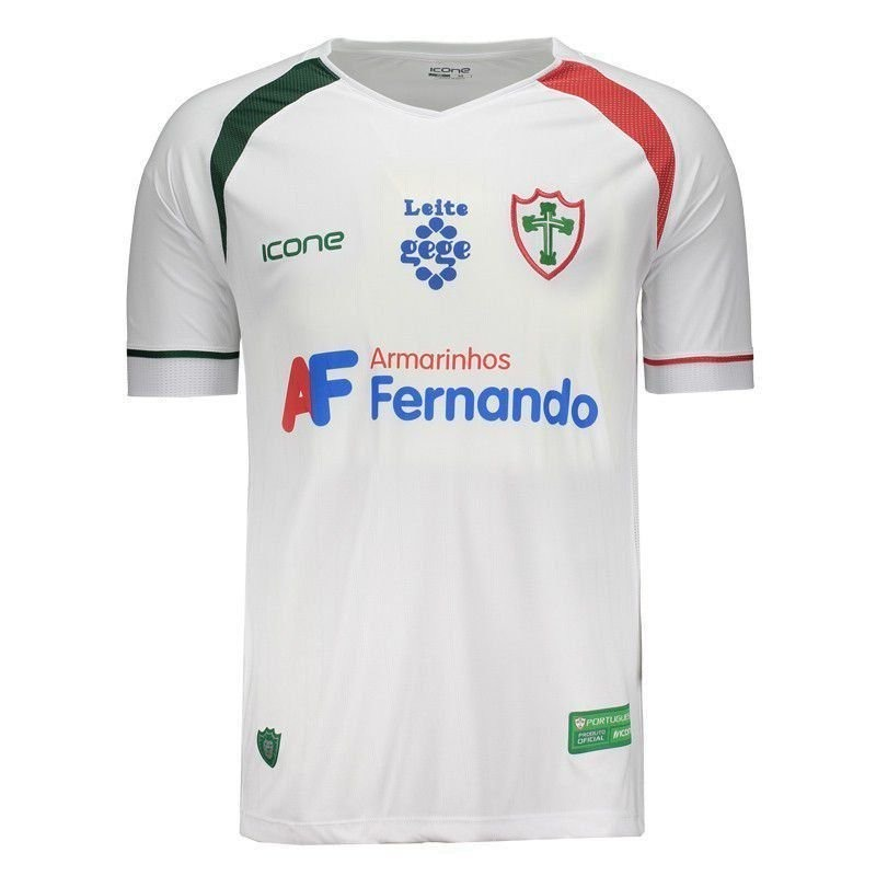 camisa ícone sports portuguesa ii 2017 com patrocínio. Carregando zoom. 53f41ad83eb9d