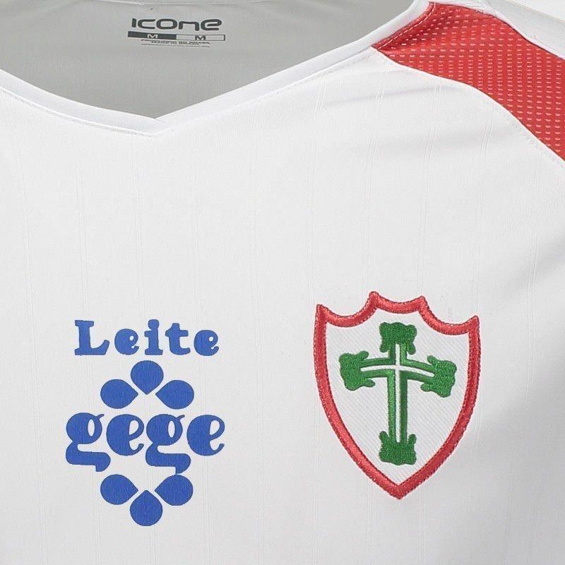 camisa ícone sports portuguesa ii 2017 com patrocínio. Carregando zoom. 8deae873f08a1