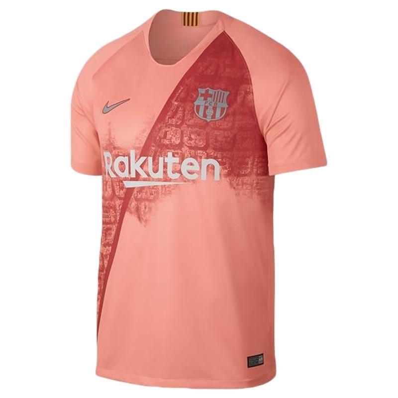 camisa iii rosa salmão time de futebol barcelona barça 2018. Carregando zoom . ce1b994a91bc5