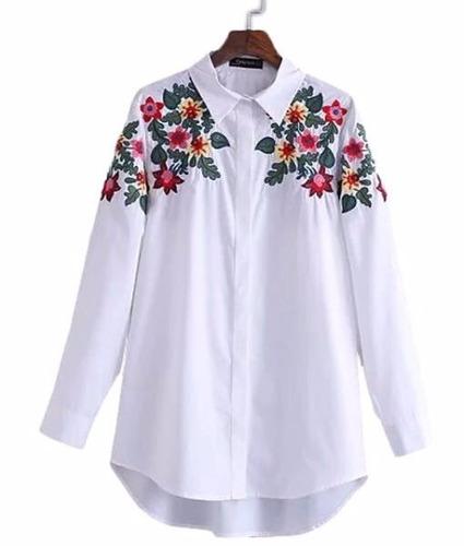 camisa importada bordada