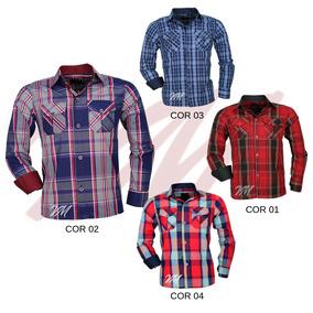 9916153d45 Camisa Xadrez Amarela - Camisa Manga Longa no Mercado Livre Brasil