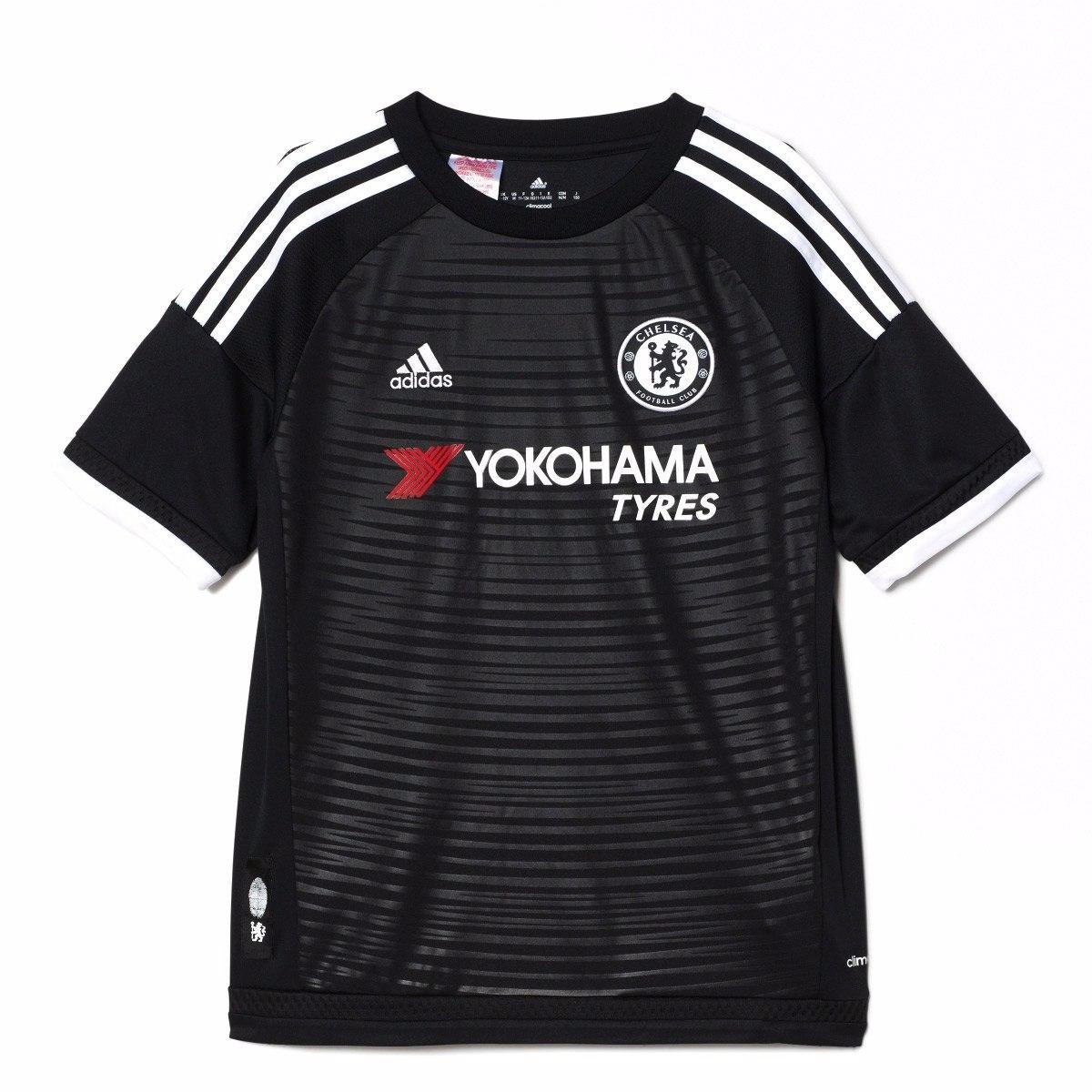 b3ab1f4e4019e camisa infantil chelsea adidas preta 2016 original. Carregando zoom.