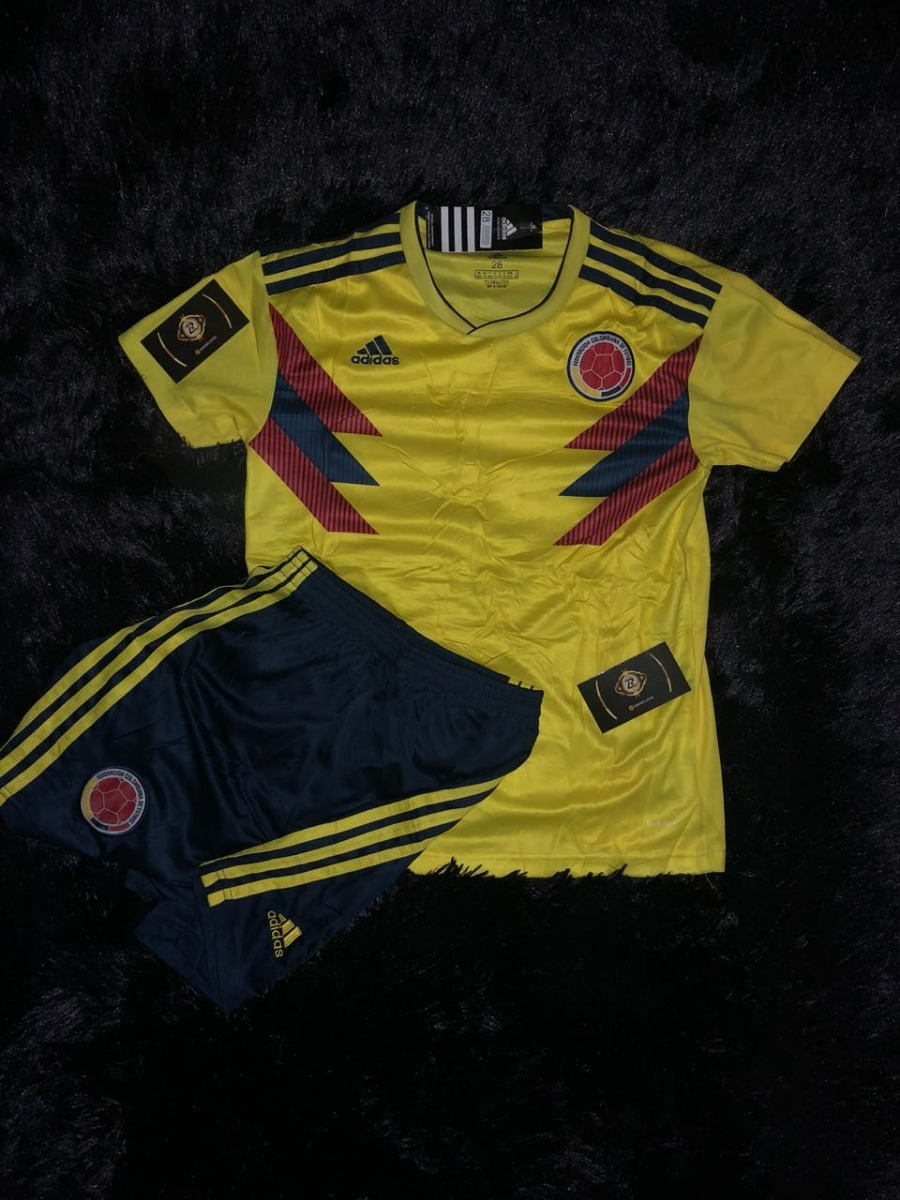 7b22a7c74e478 Camisa Infantil Conjunto Colombia Home Oficial 2018 Promoçao - R ...