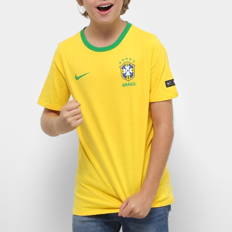 3b8f412942 camisa infantil do brasil top nike 2018. Carregando zoom.