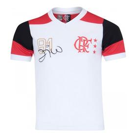 Camisa Infantil Do Flamengo Oficial Retro Zico Mundial/81 Nf