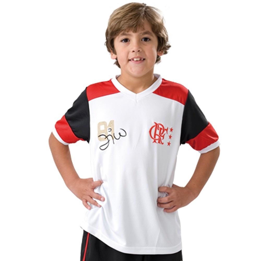 camisa infantil do flamengo oficial retro zico mundial 81 nf. Carregando  zoom. 76bc4e3b5e609