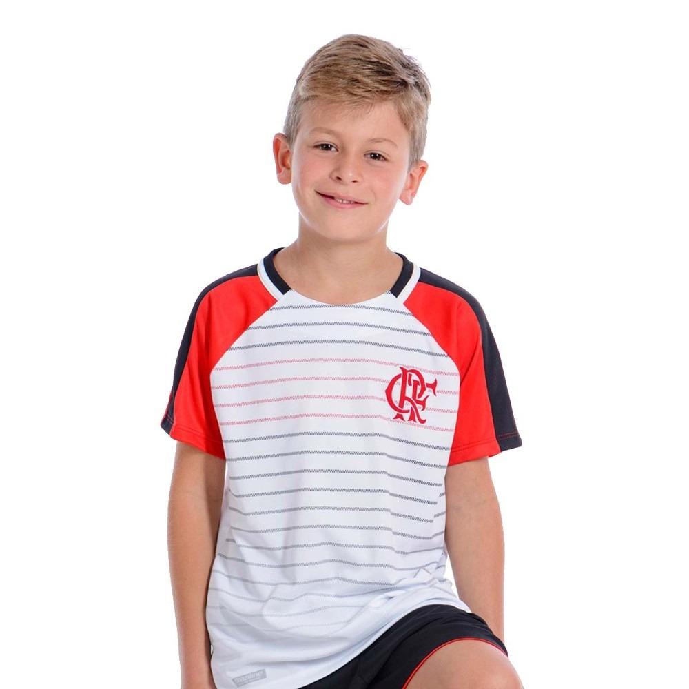 2cb66d2b5e6eb camisa infantil flamengo dry temp branca. Carregando zoom.