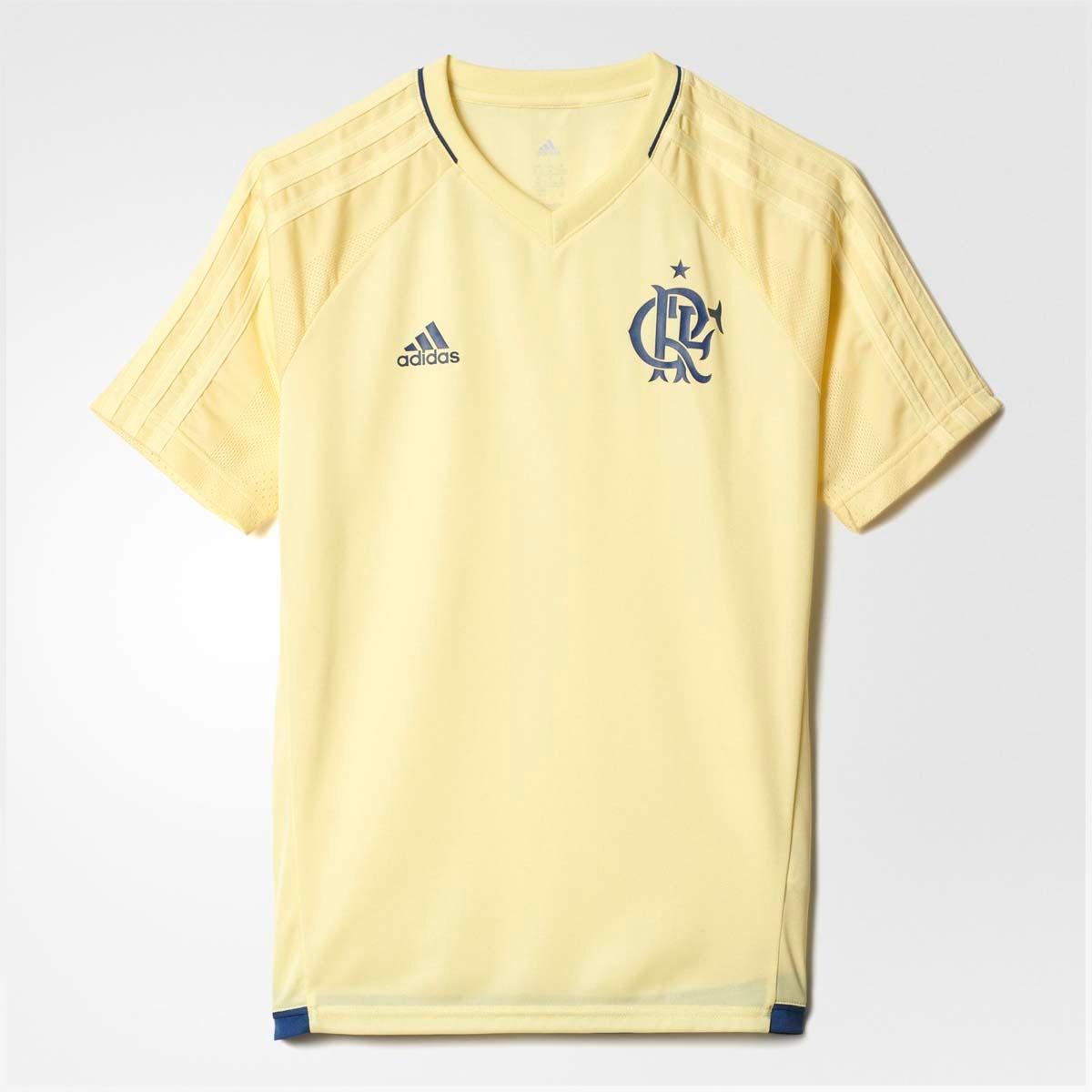 camisa infantil flamengo treino cr adidas amarelo. Carregando zoom. 394e86d94e702