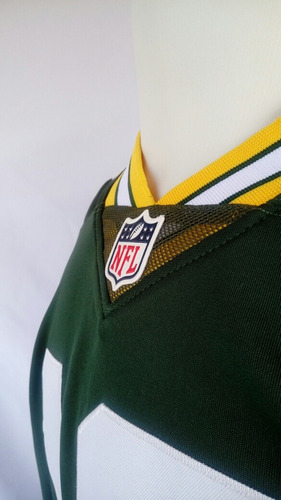 camisa infantil green bay packers aaron rodgers youth nfl