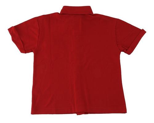 camisa infantil manga curta com botão várias cores