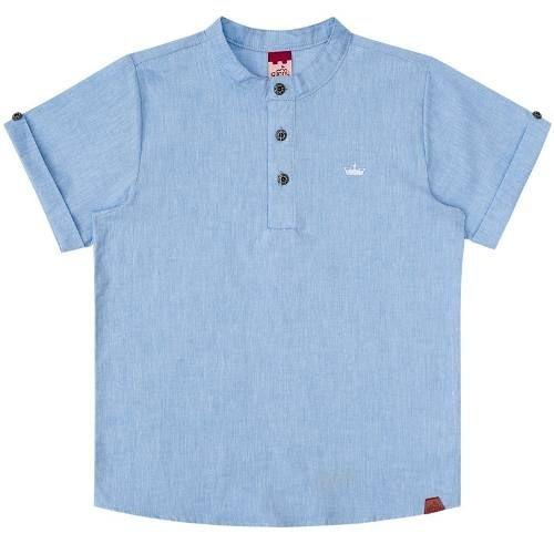 26141ad8b685 Camisa Infantil Masculina Bata Jeans Boca Grande Bg/g32047 - R$ 76 ...