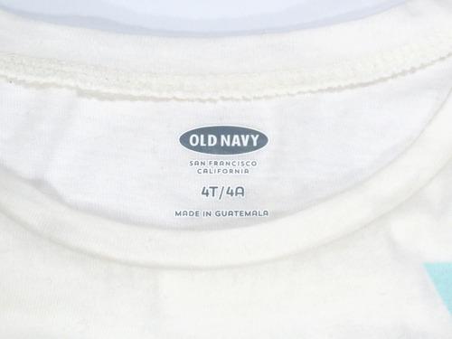camisa infantil old navy creme original