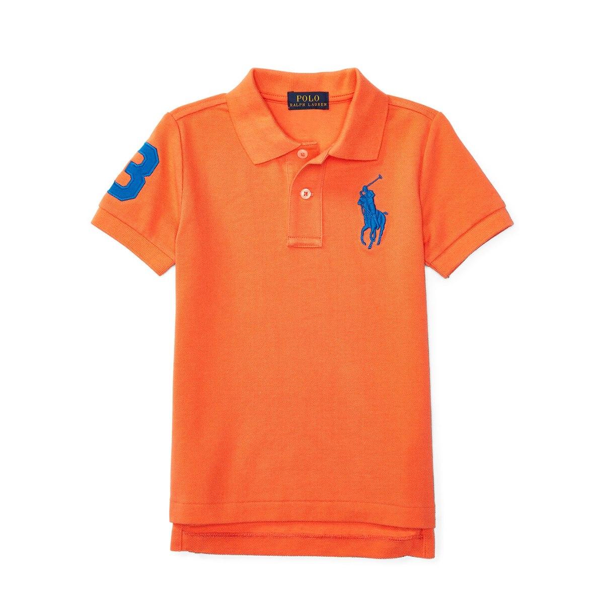 c980dee7d3 camisa infantil polo ralph lauren original 5t laranja. Carregando zoom.