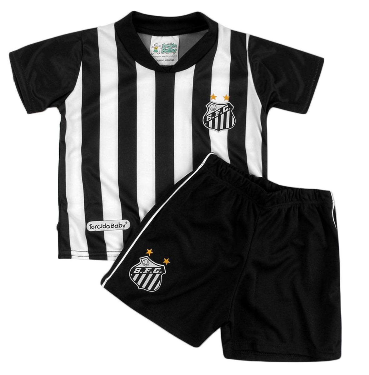 camisa infantil santos + shorts torcida baby micro dry c nf. Carregando  zoom. 20eab565cdaf7