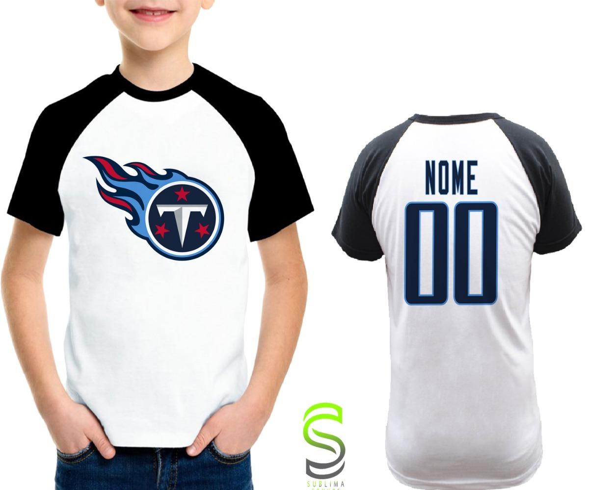 81a2ed27d camisa infantil tennessee titans personalizada nfl raglan. Carregando zoom.