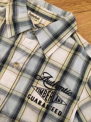 camisa infantil xadrez timberland tam. 3