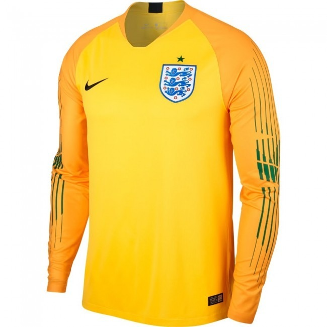 d1504a4003bf1 Camisa Inglaterra Amarela 18-19 Gk Manga Longa Importada - R  149