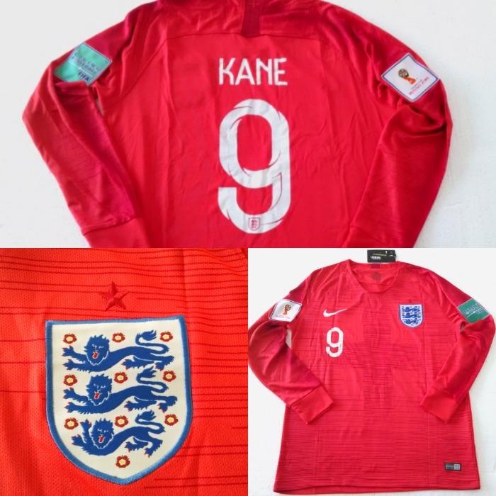 7bcc56b077 Camisa Inglaterra Away 2018 - Mangas Longas - R  192