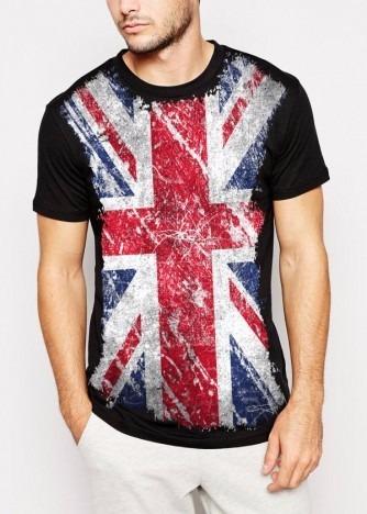 21b03babb649c Camisa Inglaterra Bandeira Masculina Personalizada Preta Pv - R  94 ...