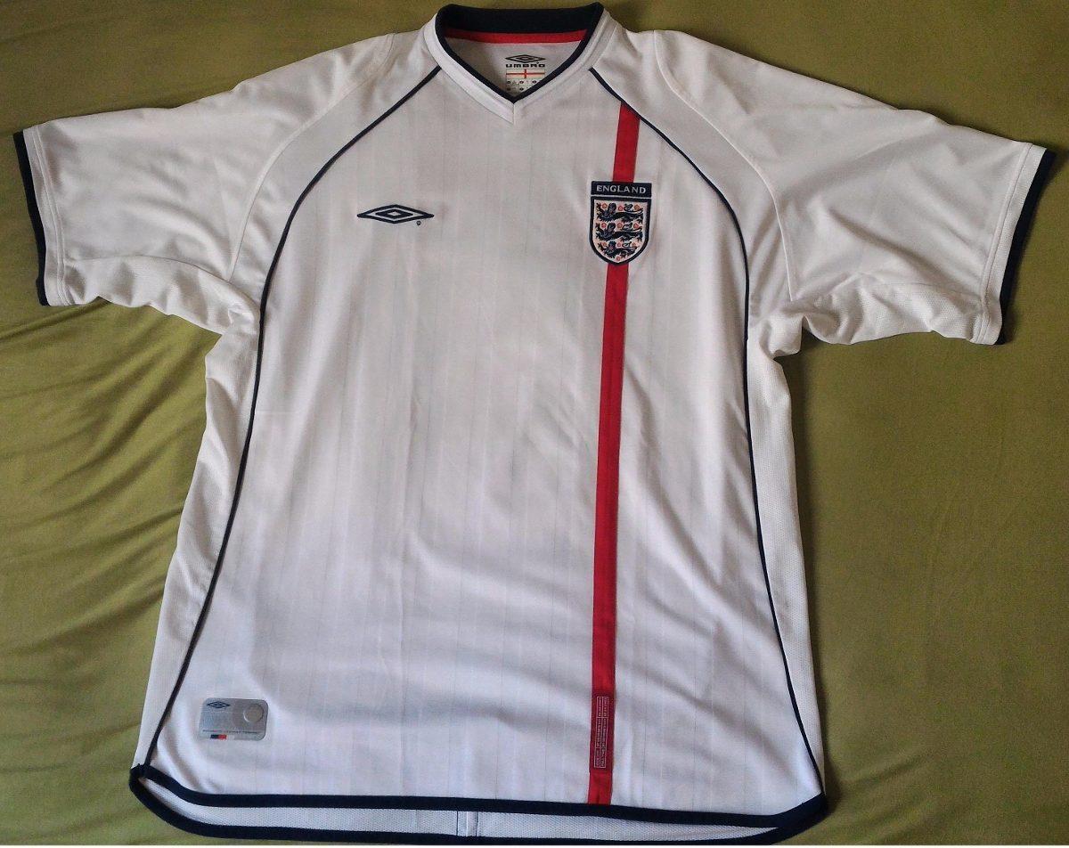 be82fd8a5f camisa - inglaterra - umbro - 2002 (branca). Carregando zoom.