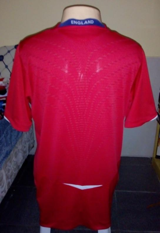 Camisa Inglaterra Umbro 2008 2010 Oficial - R  72 2fc6edd5cf026