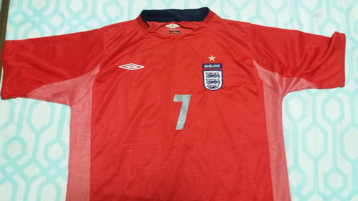 Camisa Inglaterra Vermelha Beckham  7 2003 Oficial Umbro Se - R  119 ... 798412cac5a22