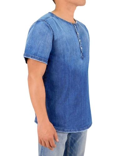 camisa innermotion de mezclilla para caballero estilo 3169