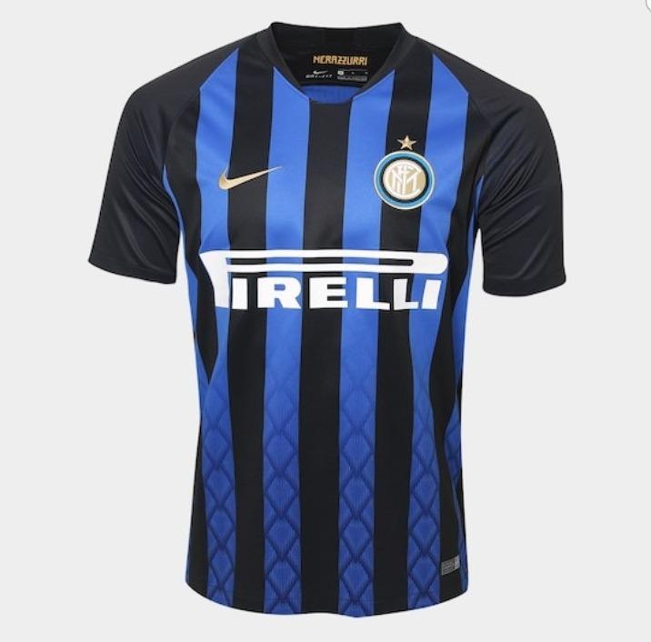 46f5c573c9 Camisa Inter De Milão -2018 2019- Uniforme Tradicional- Nike - R ...