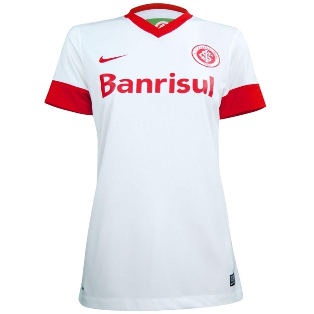 01a8e9fb2 Camisa Inter Internacional Branca Feminina Nike - R$ 109,90 em ...
