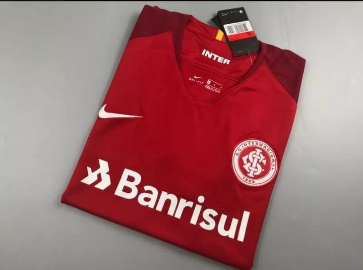 Camisa Internacional I 18 19 Torcedor Nike Masculina - Verme - R ... 423f947821c8d