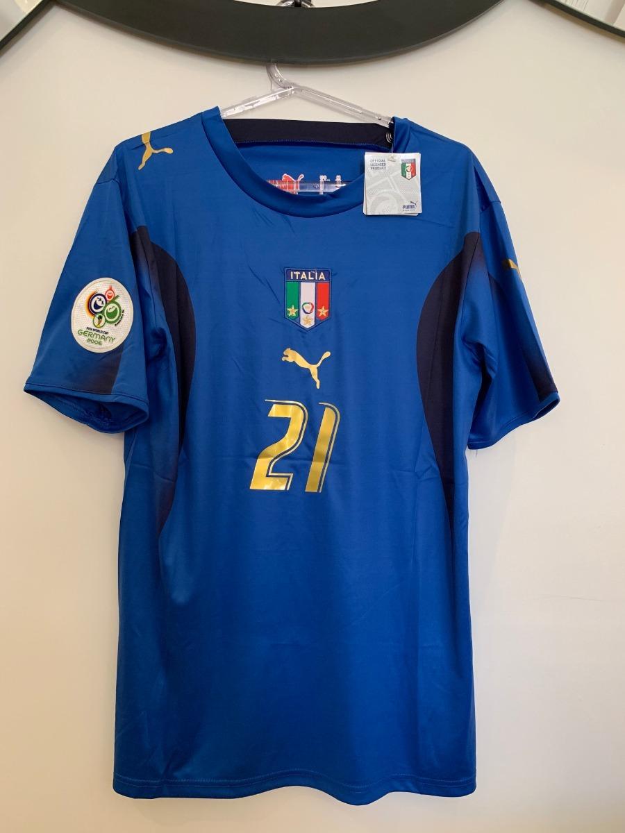 camisa itália -  21 pirlo - copa 2006 - pronta entrega. Carregando zoom. d32f5bcb1e388