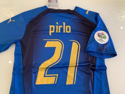 Camisa Itália -  21 Pirlo - Copa 2006 - Pronta Entrega - R  299 76ff191ccabee