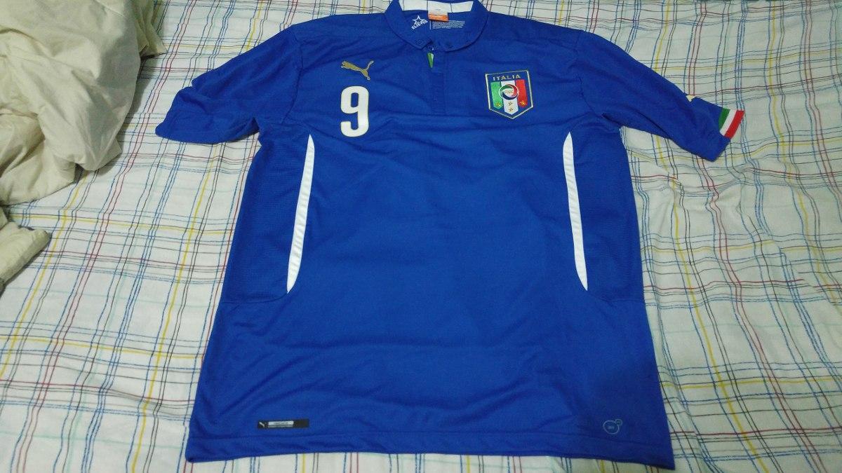 8d0abc5983 camisa italia copa 2014 home puma  9 balotelli xl nova. Carregando zoom.