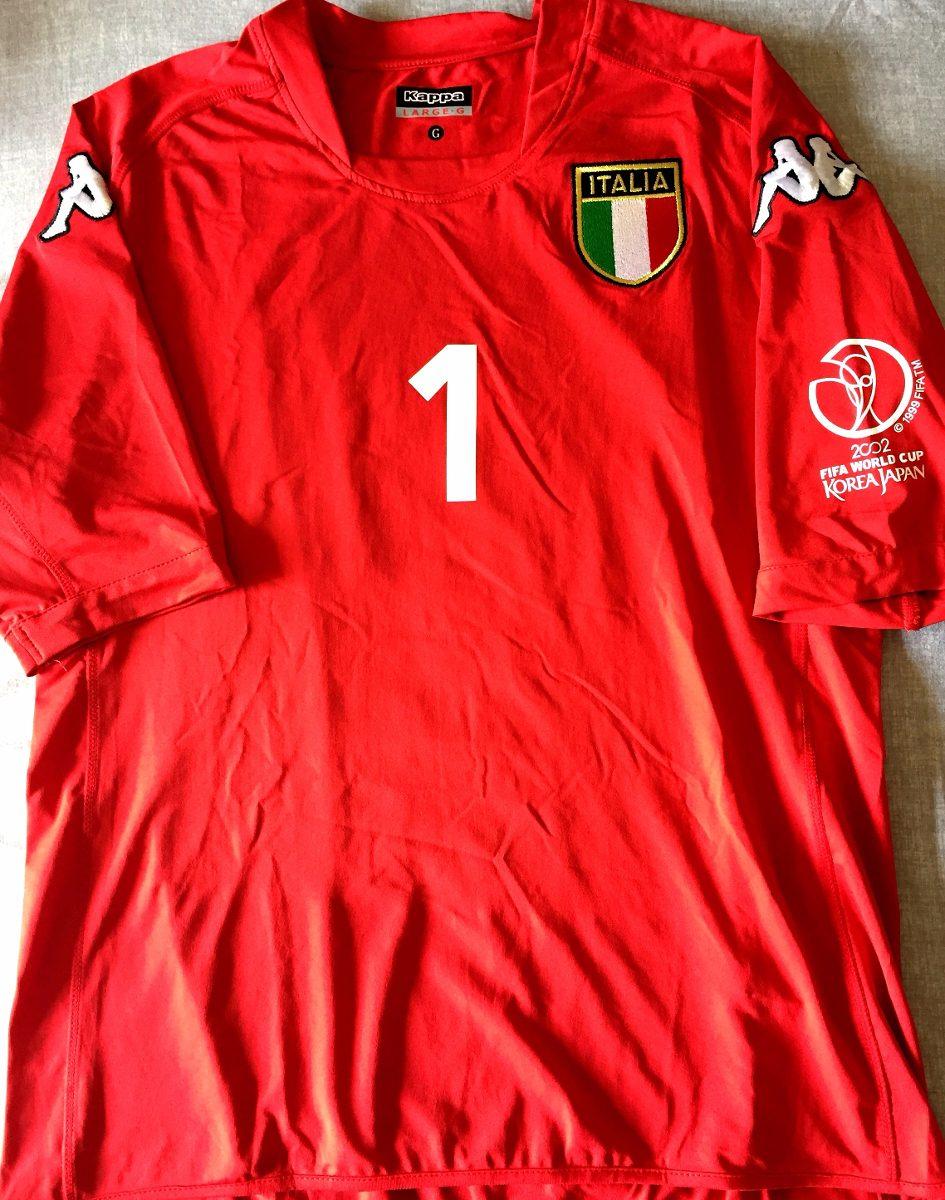 b7e0337e800f1 Camisa Itália Copa Do Mundo 2002 Buffon Vermelha Kappa - R  349