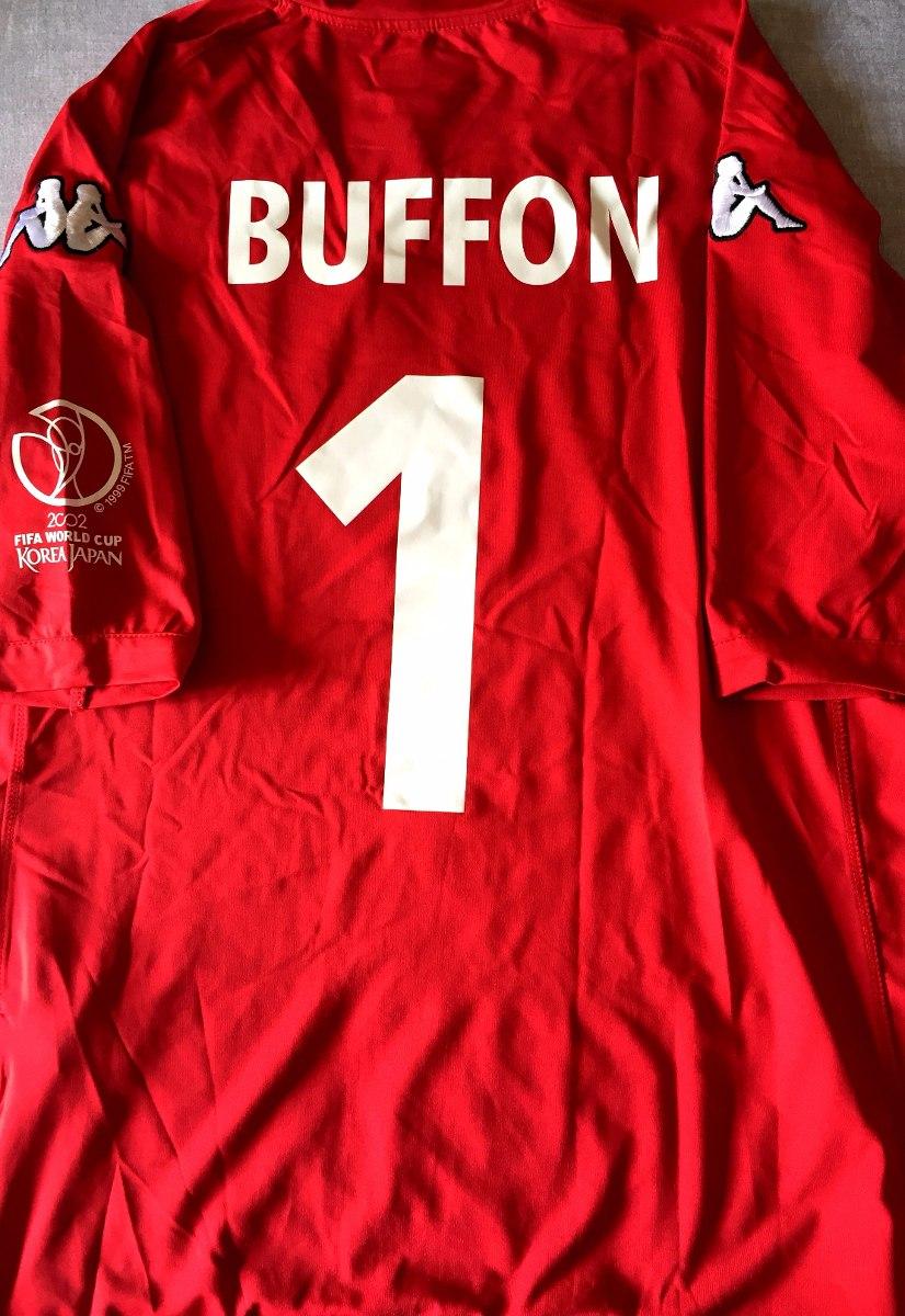 31133c4f14 camisa itália copa do mundo 2002 buffon vermelha kappa. Carregando zoom.