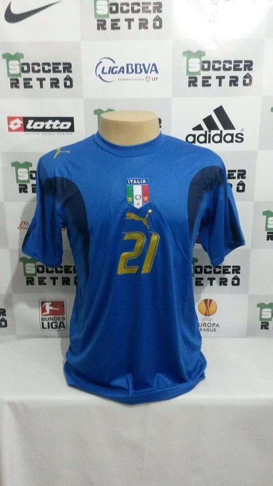 camisa italia copa do mundo 2006 pirlo 21. Carregando zoom. cec10076cc973
