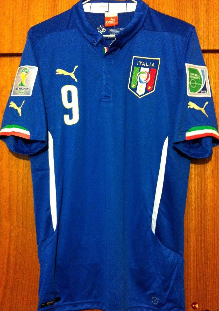 32d5baf9cb1ca Camisa Itália Copa Do Mundo 2014 Balotelli  9 Completa - R  349