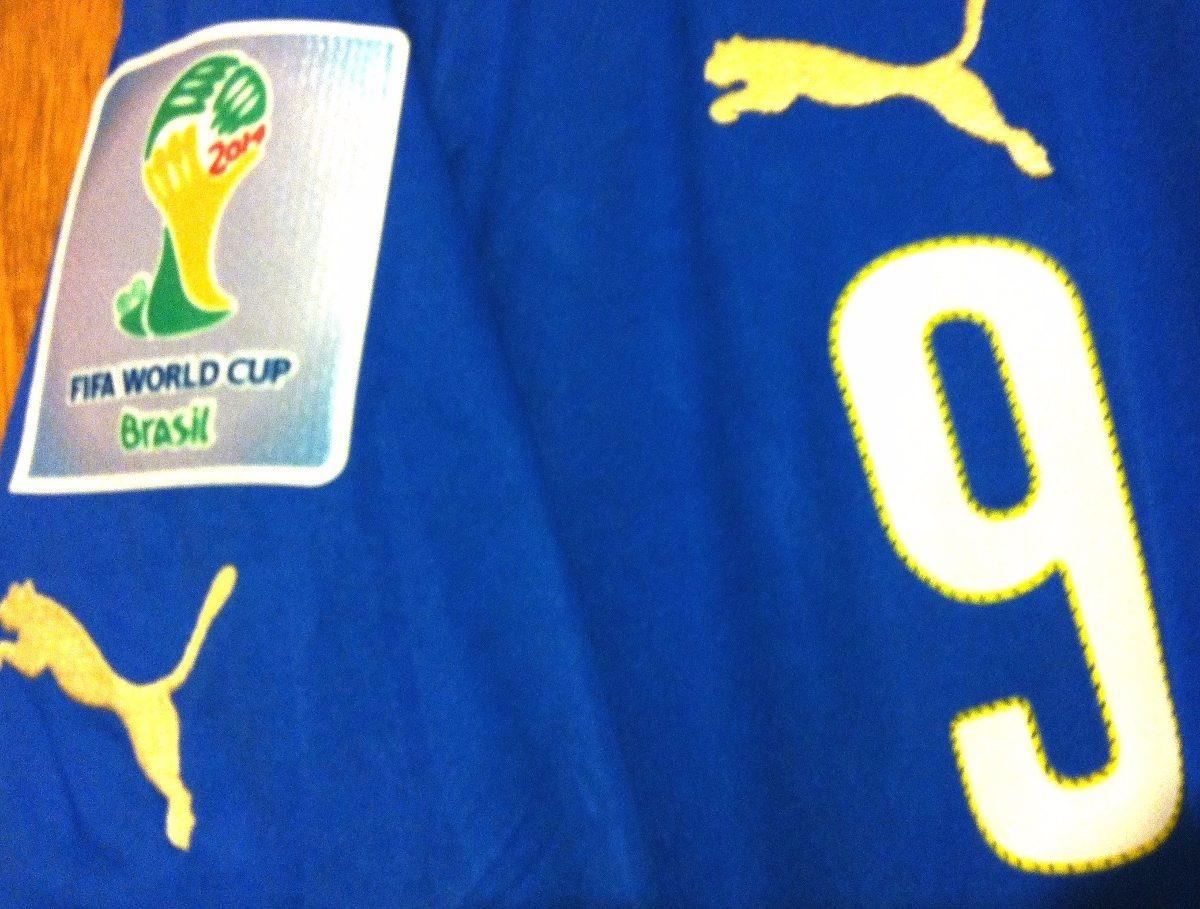 camisa itália copa do mundo 2014 balotelli  9 completa. Carregando zoom. d51a84e712d8f