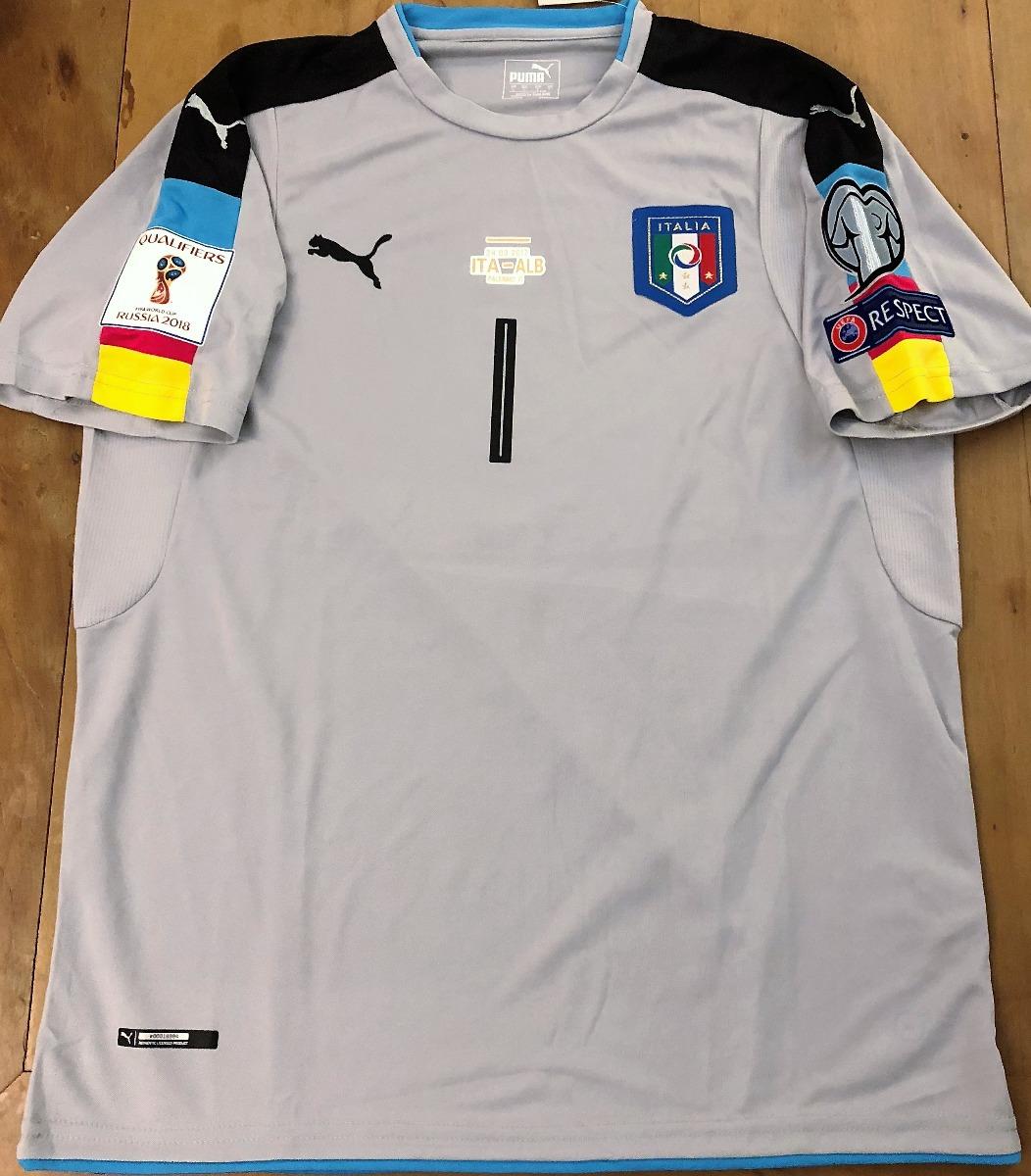 6be100a0505d4 camisa itália eliminatórias copa 2018 autografada buffon. Carregando zoom.