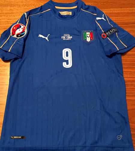28a6b6e01b Camisa Itália Euro 2016 Pellè Vs Espanha Completa - R  329