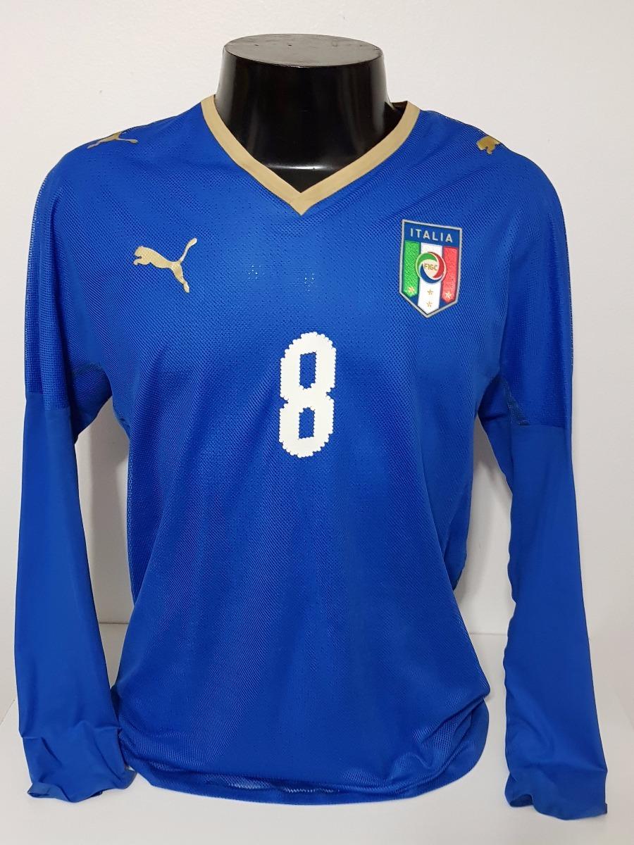 camisa itália home 08-09 manga longa   8 gattuso importada. Carregando zoom. 8c2311e5d1a7f