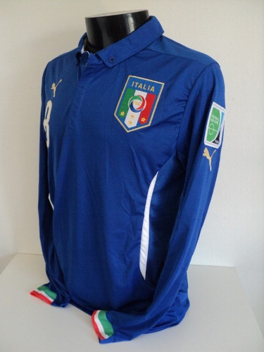 camisa itália home 14-15 marchisio 8 manga longa importada