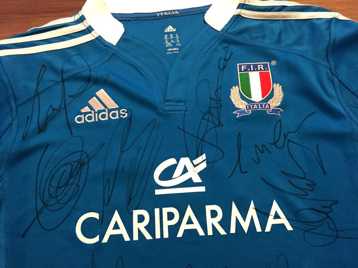 camisa itália rugby autografada elenco mundial 2015. Carregando zoom. 969693e217ed7